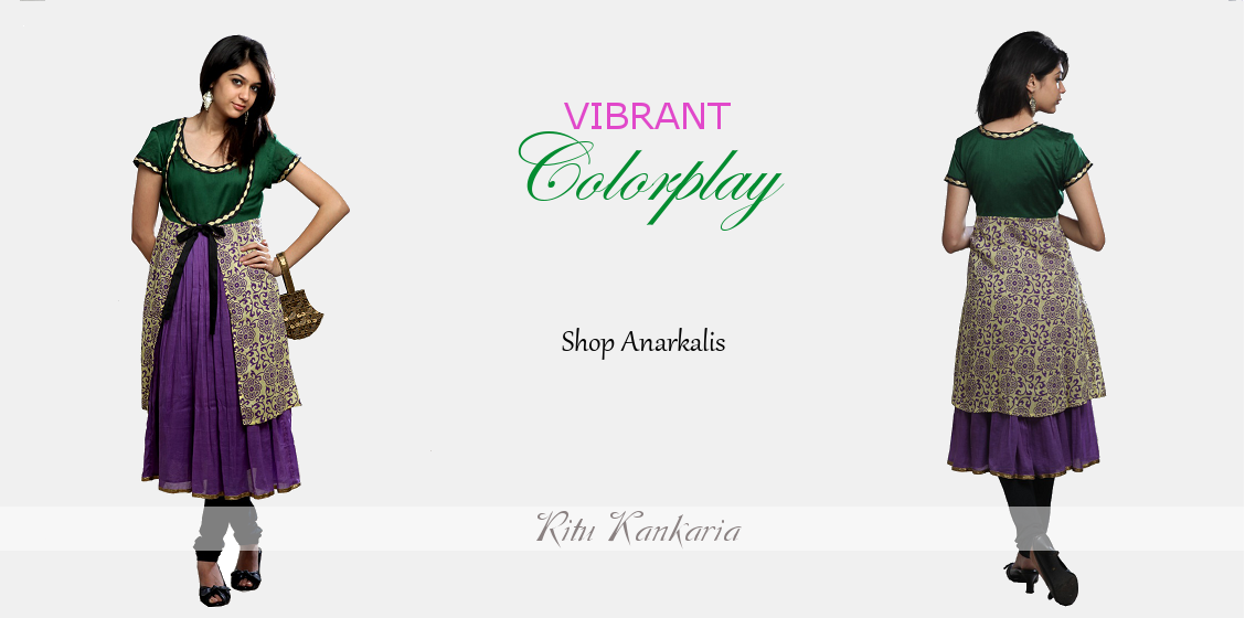 Vibrant colorplay Shop Anarkalis